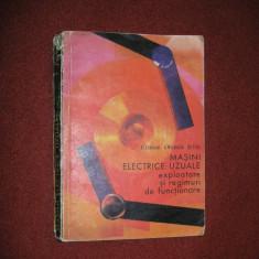 Masini electrice uzuale - exploatare si regimuri de functionare - Al.Fransua - Carti Electrotehnica
