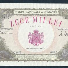 ROMANIA 10000 10.000 LEI 20 DECEMBRIE 1945 [1] XF+++ a UNC