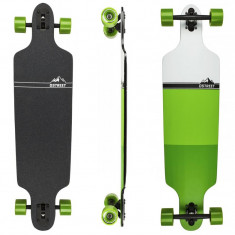 "Skateboard - Longboard D STREET Drop Through Block Green 39""/99cm"