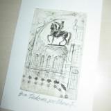 MARCEL CHIRNOAGA, GRAVURA - Pictor roman, Abstract, Cerneala