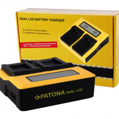 PATONA   Incarcator DUAL LCD pt Sony NP-FW50 NP FW50 NPFW50 - Incarcator Aparat Foto