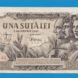 100 lei 1947 5 decembrie 2 aUNC