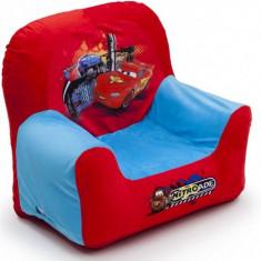 Scaun auto bebelusi grupa 0+ (0-13 kg) - Fotoliu gonflabil pentru copii Cars Delta Children