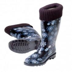Cizme dama - Cizme de cauciuc pentru ploaie cu captusala Stocker marimea 39 albastru
