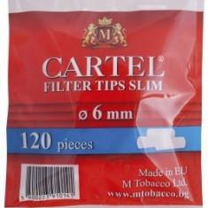 Foite tigari - Filtre CARTEL SLIM pentru rulat tutun, tigari