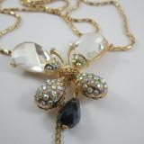 Colier Swarovski - Colier pandantiv Butterfly cristale Swarovski