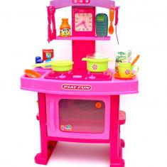 Bucatarie de jucarie copii cu ceas, sunete si lumini - Cadoul perfect pentru fetite!