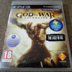 Joc God of War Ascension, PS3, original, alte sute de jocuri! - Jocuri PS3 Sony, Actiune, 18+, Single player