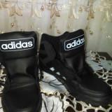 Bascheti adidas din piele originala - Adidasi barbati, Negru