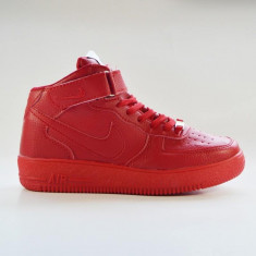 Ghete dama - Nike Air Force One High - Top Rosu