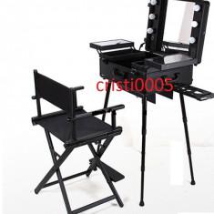 Statie profesionala pentru make up cu scaun farduri cosmetica ucenic kit set