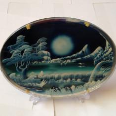 Tablou peisaj de iarna 3 foi suprapuse de sticla pictata efect tridimesional