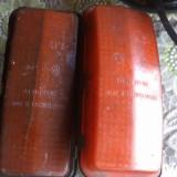 Metal/Fonta - Lot 2 lampi pt o masina veche Made in Cehoslovacia