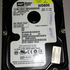 Hard Disk Western Digital defect Westen Digital WD800JD-60LSA0 80 GB SATA, 40-99 GB, Rotatii: 7200