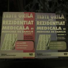 Carte Medicina - Teste grila pentru rezidentait medicala si medicina de familie - Marius Negru