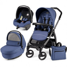 Carucior 3 in 1 Book Plus S Black Sportivo Bluette - Carucior copii 2 in 1 Peg Perego