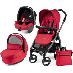 Carucior 3 in 1 Book Plus S Black Sportivo Red - Carucior copii 2 in 1 Peg Perego