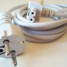 Prelungitor Cablu Tensiune cu Adaptor priza EU pt. incarcator Apple MacBook Pro Air iPhone iPod iPad iPad2 - Adaptor incarcator