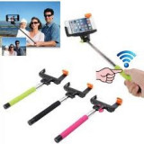 Selfie Monopod bluetooth wireless cu buton pe maner
