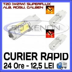 Led auto ZDM, Universal - BEC AUTO LED LEDURI T20 W21W - SUPERFLUX - MARSARIER SEMNALIZARE POZITIE FRANA