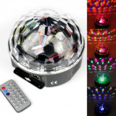 Lumini club - Glob disco USB jocuri lumini difuzoare audio Lumini 6 Culori telecomanda stick