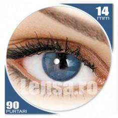 Vand lentile de contact albastre+solutie 100 mg+suport lentile - Lentile de contact colorate