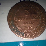 3 KREUTZER 1812 FRUMOASA DE COLECTIE 2 AURIE - Moneda Medievala