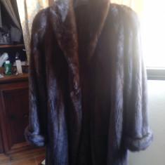 Haina de blana de vizon model clasic - Palton dama, Marime: 48/50, Culoare: Maro