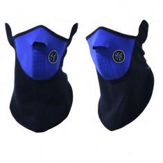 Masca protectie fata din neopren, pt paintball, ski, airsoft, cagula albastra - Echipament Airsoft
