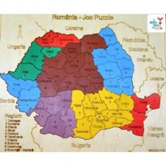 Puzzle Altele Harta Romania, Lemn, Unisex