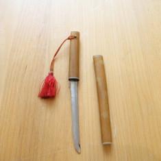 Cutit tip SABIE SAMURAI STAINLESS STEEL .teaca lemn, pentru deschis, desfacut, scrisorile, plicurile, corespondenta, de colectie-vezi galerie foto