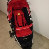 Carucior copii 2 in 1, 1-3 ani, Pliabil, Rosu - Carucior Ferari