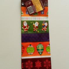 Ornamente Craciun - Plasa de cadouri, model de iarna, punga cadouri, pungi cadouri, pentru sticle, sticla bautura, Mos Craciun