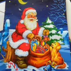 Ornamente Craciun - Plasa mare de cadouri, model de Craciun, Mos Craciun, punga cadouri, pungi cadouri, foarte incapatoare