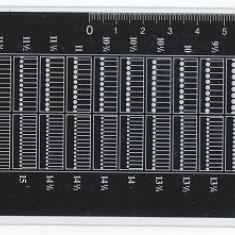 Odontometru - Folie pentru masurat dantelura timbre