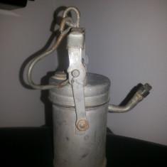 Veioza/Lustra/Lampa - Lampa de carbid veche, pentru mina, pestera, etc.