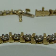 Bratara aur 14k cu diamante