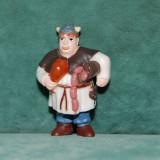 Surpriza Kinder - Jucarie figurina ou Kinder Surprise, Wickie und die starken Manner (2009), Faxe, MPG DE-128, viking, plastic, colectie, 4, 5 cm