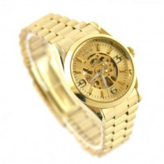 REDUCERE Ceas dama Automatic GOER - CIRCLE GOLD Edition, Casual, Mecanic-Automatic, Inox, Analog