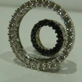 """Pandativ aur 14k cu diamante """" CIRCLE OF LIFE"""" - Pandantiv aur alb, 14k"""