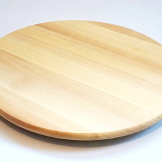 Platou rotativ pentru servire - din lemn masiv lacuit - 39 cm diametru