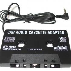 Casetofon auto - CASETA ADAPTOARE AUTO CU MUFA JACK PENTRU CASETOFON, MP3, TELEFON, DVD,
