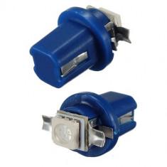 Bec T5 B8.5D LED SMD5050 Albastru / Rosu pentru bord, console auto - Led auto EuropeAsia, Universal