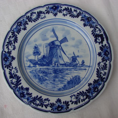 Frumoasa farfurie din portelan olandez DELFTS Blauw, Farfurii
