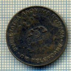 JETON 134 PENTRU COLECTIONARI - SOCIETATEA ANONIMA ROMANA DE TELEFOANE -ANTEBELIC -IN FUNDAL HARTA ROMANIEI MARI -STAREA CARE SE VEDE - Jetoane numismatica