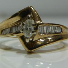 Inel logodna aur alb 14k cu diamante 0.30ctw (zeci de modele noi) - Inel de logodna