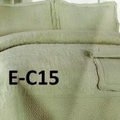 Cuvertura de pat bumbac brodat EC15