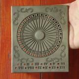 Calendar din zinc - model deosebit cu marcaj !!!!! - Calendar colectie