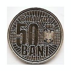 Monede Romania, An: 2015 - Romania 50 bani 2015 (10 ani de la denominarea monedei naționale) KM-New UNC !!!