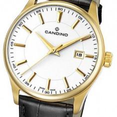 Ceas Barbatesc Candino, Elegant, Quartz, Placat cu aur, Piele, Analog - Ceas original CANDINO Classic C4457 Gold pvd, SWISS MADE, geam safir cristal !
